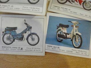 Cromos de motos años 80