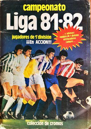 Album de cromos de futbol 81/82.