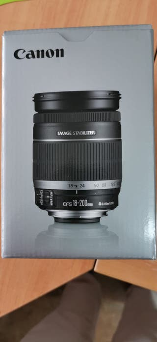 Objetivo Canon 18-200 mm