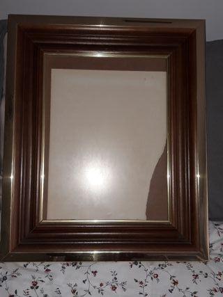 71x51 Cm Espejos Marco De Madera Amarillo Medida Interior Aprox