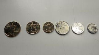 Serie completa monedas SWAZILAND 2015
