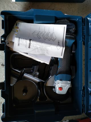 GWS 18-125 V-LI + L-BOXX SIN BATERIA NI CARGADOR