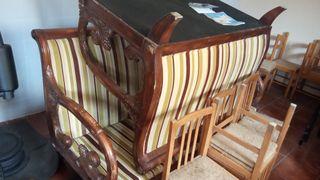 sofá barroco,madera tallada