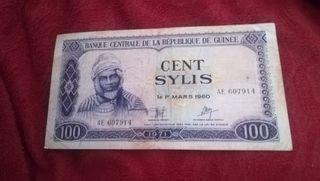 billete, Cent Sylis de 1960, Guinea