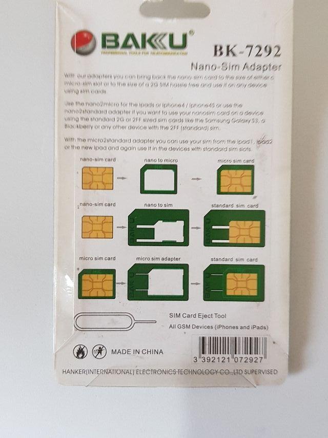 adaptadores para SIM