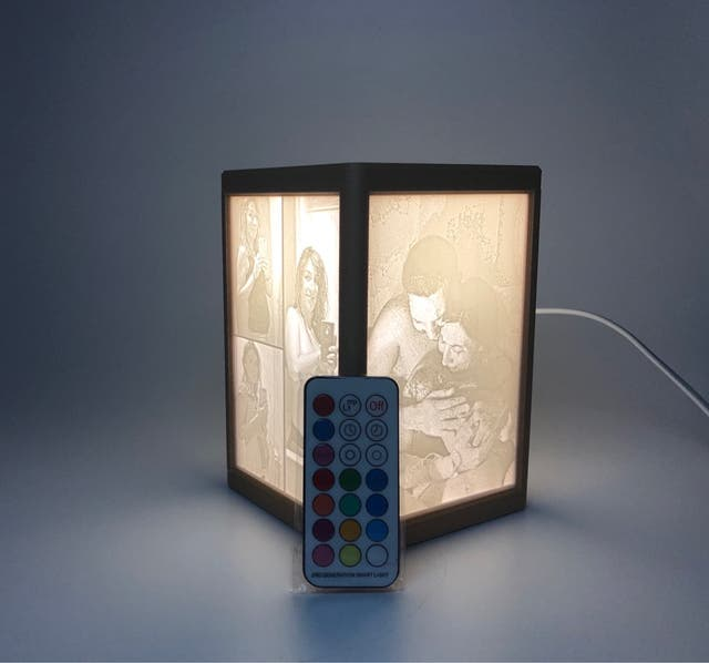Lámpara 3d color madera