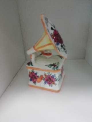 caja cerámica joyero gramola. talavera