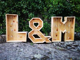 letras boda en madera iluminadas con bateria