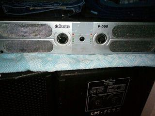 Altavoces y amplificador