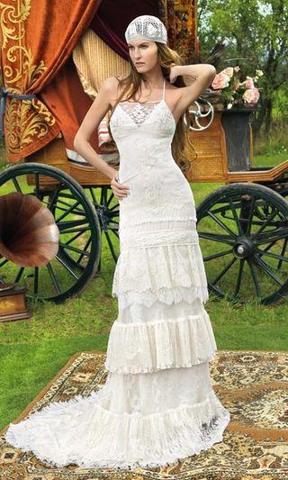 43a905d8d Vestido de novia Yolan Cris de segunda mano en WALLAPOP