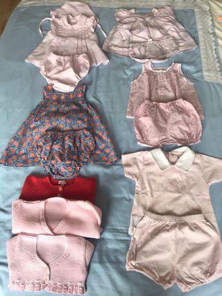 Lote vestidos y conjuntos niña 3-9 meses