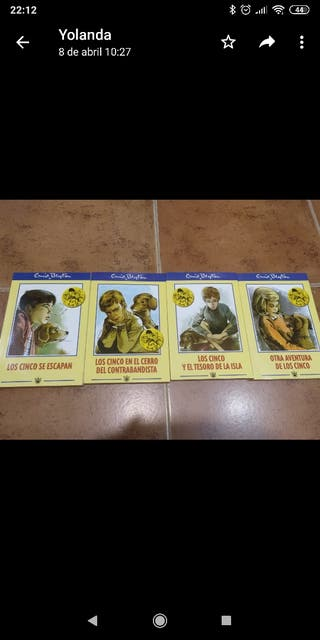 Colección libros de Los Cinco