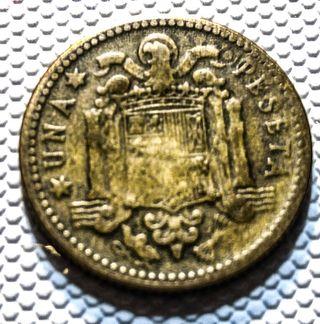 1 peseta 1947 19*56 error de acuñación