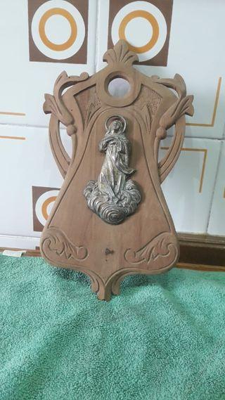 venditera de madera antigua de la Inmaculada