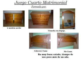 Muebles Cuarto Matrimonial