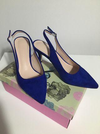 Zapatos tacón 39 azul