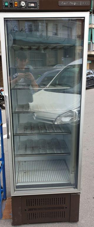 congelador industrial con puerta cristal para expo