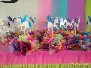 centro de unicornio para boda bautizo y comuniones