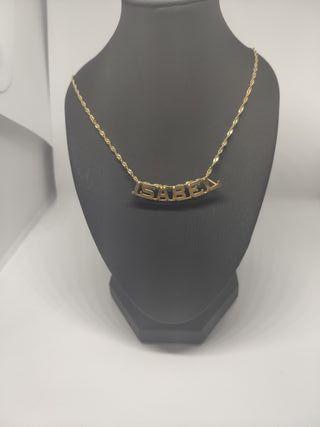 be3107a4064b Pulsera de oro con nombre de segunda mano en WALLAPOP