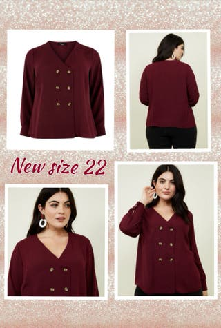 new size 22 new look blouse