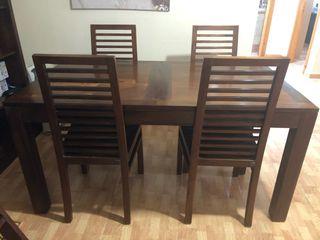 Mesa y 4 sillas Banak