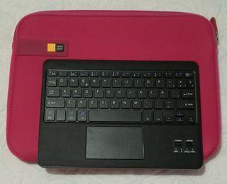 teclado inalámbrico y funda tablet