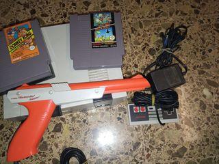 Nintendo NES +pistola y juegos