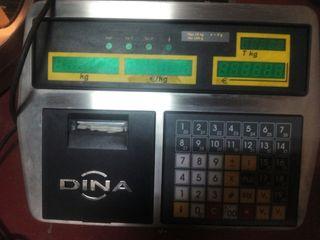 báscula electrónica con tickets