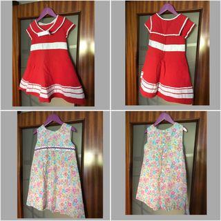 6 vestidos niña. Todos por 70