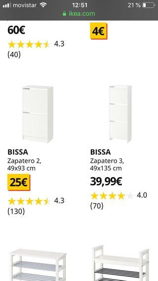 Zapateros Ikea BISSA