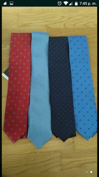 corbatas nuevas Armand Basi. Lavables en lavadora.