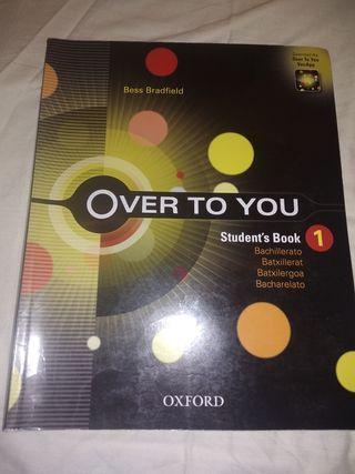 Libro Over to you 1 Bachillerato OXFORD