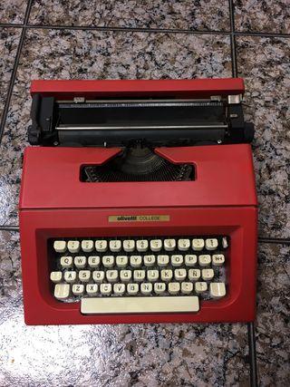 Maquina de escribir Olivetti collage