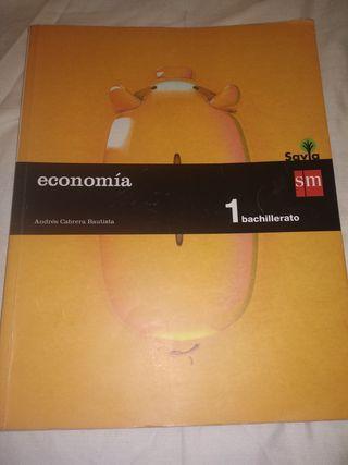 Economía 1 Bachillerato Editorial SM Casi Nuevo