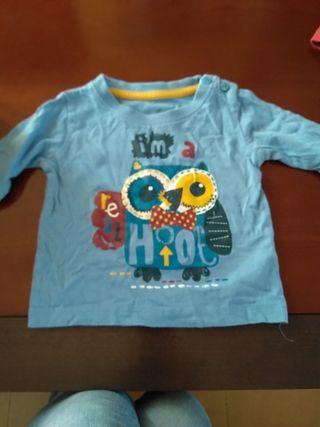 camisetas bebe 9-12 meses casi nuevas