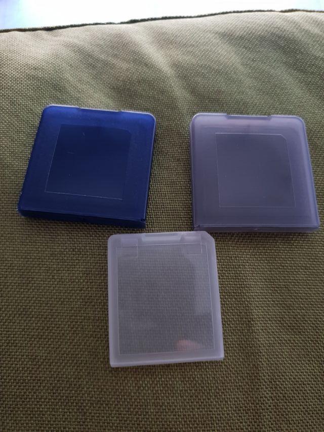 3 cajitas porta juegos nintendo DS