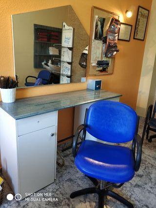 sillón con elevador + tocador + espejo
