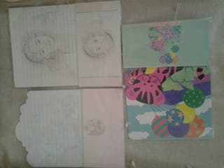 Sobres cartas perfumadas años 80 y 90