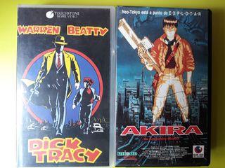 VHS akira , dick tracy