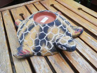 cenicero / portavelas de exterior tortuga