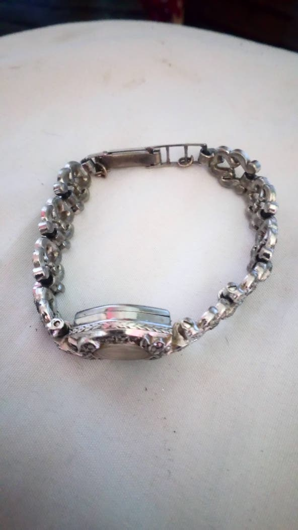 Real Silver Ladies 1960's Vintage Wristwatch.