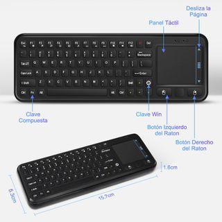 NUEVO-50% Mini Teclado Inalámbrico Ratón Touchpad