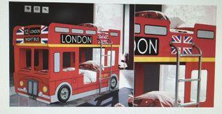 litera autobús londinense de color roja