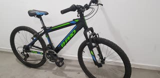 Bicicleta niño aluminio casi nueva 24'