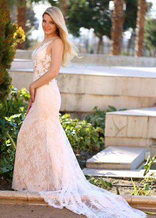 Precioso Vestido de novia a medida .Alta calidad