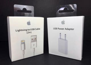 ORIGINAL APPLE USB 2M Y CLAVIJA 5V