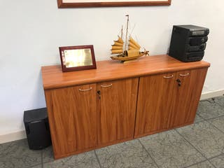 Mesa despacho redonda de segunda mano en wallapop for Muebles despacho baratos