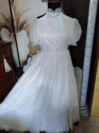 vestido de comunión retro