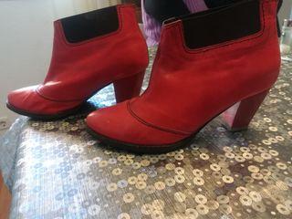 62ca0373 ... Zapatos Rojo Negro Blanco Verde Kaki. calzado botas botines 37
