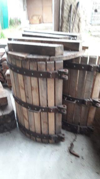 prensa de uva tradicional
